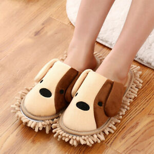 1 Pair Floor Mop Slippers  for Women Reusable Suitable Kitchens Bathroom Size M