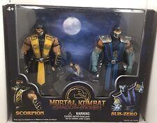 Mortal Kombat Shaolin Monks (Scorpion & Sub-Zero) Hot Topic Exclusive! Very Rare