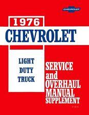 1976 Chevrolet GMC Truck Shop Service Repair Manual Supplement Engine Drivetrain