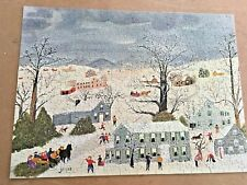 SPRINGBOK GRANDMA MOSES GREY DAY JIGSAW PUZZLE COMPLETE 475 PIECES