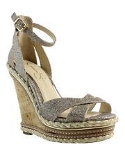 Jessica Simpson Womens Js-Ahnika Gold Ankle Strap Heels Size 9 (403291)