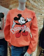 Disney Parks Disneyland Coral Vintage Mickey Mouse Pullover Sweatshirt *All Size