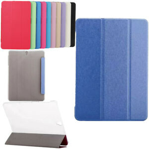 """Slim PC Flip Leather Case Cover For Samsung Galaxy Tab A/A6 S 7"""" 8"""" 9.7"""" 10.5"""""""