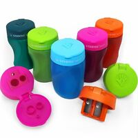 Stabilo Easy Triple Hole Right Handed Pencil Sharpener – Single Assorted Colour