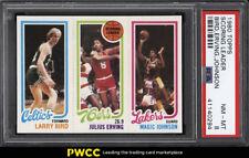 1980 Topps Basketball Larry Bird & Magic Johnson ROOKIE RC PSA 8 NM-MT (PWCC)