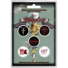 OFFICIAL LICENSED - MOTLEY CRUE - DR FEELGOOD 5 BADGE PACK ROCK METAL GLAM