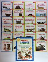 Lot 24 Animals Phonics Kids Books Levels C D E F First Grade + Teaching Guide