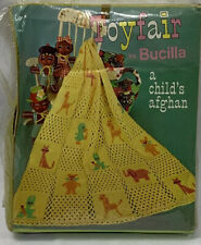 Vtg Toyfair by Bucilla A Child's Afghan to Crochet Kit 7814 Color 241 Buttercup