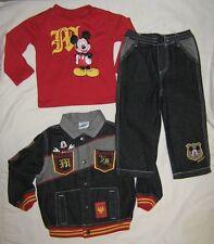Toddler Boy Disney Mickey Jacket Pants Top Set 24 Mths Mickey Mouse Denim Black