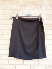 DOROTHY PERKINS WRAP WRAPPED BELTED SIDE A LINE BLACK PARTY FORMAL SKIRT 16 XL