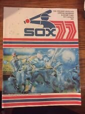 1977 Chicago White Sox Program May 22 1977  v Detroit Tigers Score Kept