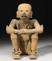 Large Remojadas Priest, Pre Columbian Art From Mexico