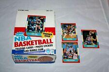 1986 Fleer Basketball Empty Box Larry Bird Micheal Jordan Rookie Year  + 3 cards
