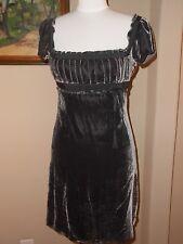 JUICY COUTURE Velvet Pleated Bust Purple Gray Juliette Empire Dress Size 4