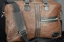 SUPER BEAUTIFUL!! DOLCE&GABBANA MEN HIGHEST QUALITY PEBBLED LEATHER LARGE  BAG