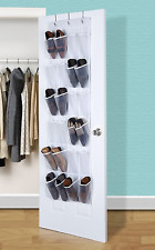 Aotuno Over The Door Shoe Organizer - 24 Reinforced Pockets,64'' x 19''Gray.