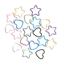 20pcs Heart/Star Shape Lip Nose Piercing Jewelry Hoop Rings Tongue Ring Stud