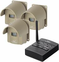 Wireless Driveway Alarm System Rechargable Weatherproof Motion Sensor & Detector