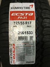 1 New 235 55 17 Kumho Ecsta PA31 Tire