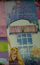 "NEW Disney Princess Tangled Rapunzel Decorative Valance 50"" Pink Purple FREESHIP"