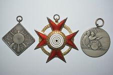 Schützenmedaille 1931 bis 1941 Pforzheim Württemberg 950 u 835 Silber Abzeichen
