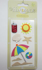 Clover Handmade Stickers Beach & Sun Theme Card & Scrapbooking Embellishments