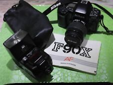 Nikon F 90 X + zoom 35-80AF + flash SB 26 used condition booklet instruction
