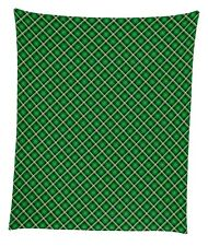 "St. Patrick's Plaid Mircofleece Throw Blanket 50""x60"""