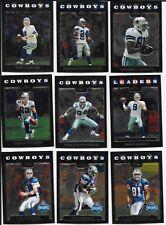 2008 Topps Chrome Dallas Cowboys Team base set (14 cards including 4 RCs)