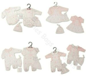Premature Baby Girls Clothes Outfit with Bow & Hat Gift Sets 'Hearts'  3-5-8lbs