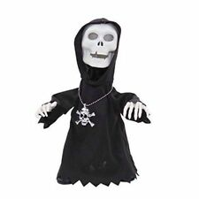 Halloween Skull Face Death Dance Toy Light & Music Party Decoration ~ Black