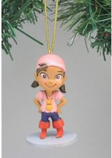 "Disney Jake & Neverland Pirates Izzy Christmas Holiday Ornament PVC Figure 2.5"""