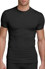 $65 CALVIN KLEIN Mens Micro Modal S/S CREW NECK T SHIRT Black U5551 UNDERSHIRT S