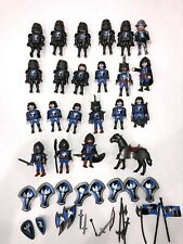 PLAYMOBIL:  21 Blue Knights, Horse and Accessories.
