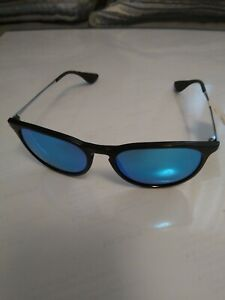 Ray-Ban Erika RB4171 601/55 54 Blue Mirror Black Nylon Unisex SunGlasses