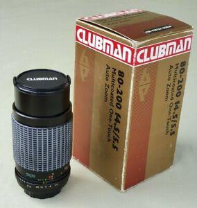 Vintage Clubman 80-200mm f4.5/5.5 MC Auto Zoom Lens for Pentax Screw Mount