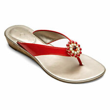 NEW Lindsay Phillips Gwen Red sandal snap shoe size 6 Sale