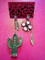 Betsey Johnson Cactus Dangle Earrings