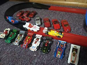 Lot Of 19 Darda Cars W/Track mach 5, Camaro, Trans Am, Jeep, Corvette, porsche