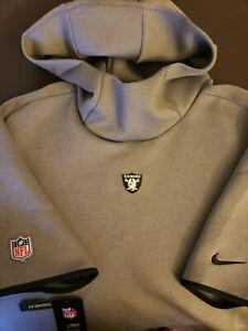 Nike Lg Las Vegas Raiders Sideline Repel Short Sleeve Hoodie Gray AR6101-021