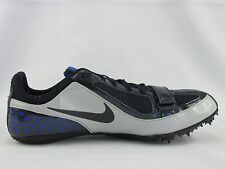 Nike Zoom Rival S Track Spikes Navy Gray Blue Running Shoes Men's 12M