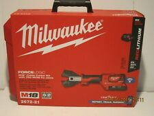 Milwaukee 2672-21 M18 18Volt Force Logic Cable Cutter Kit W/CY/AL Jaws NISB 2018