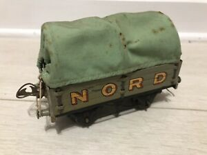 ⭐️⭐️⭐️ Vintage Hornby O Gauge French Nord Covered Wagon With Tarpaulin