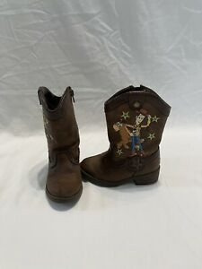 Disney Toy Story Woody/Bullseye Infant/toddler Boys Brown Boots~size 6 C