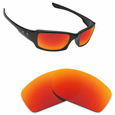 Hawkry Polarized Replacement Lense for-Oakley Fives Squared Sunglass Orange Red