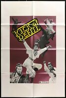 THE KICK OF DEATH Grindhouse ORIGINAL 1973 ONE SHEET MOVIE POSTER 27 x 41