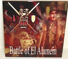 "Battle of El Alamein General Montgomery Tribute ""desert rats""  CERAMIC TILE"