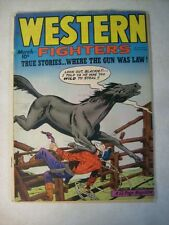 WESTERN FIGHTERS v2#4 WHERE THE GUN WAS LAW, 1950, HILLMAN