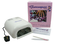 GLAMOURPUSS BOUTIQUE 36W UV NAIL LAMP ICE WHITE 4 x 9W BULBS CE APPROVED