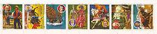 PARAGUAY Tira de 7 sellos :Autores célebres y su jefes de'oeuvre 146T1